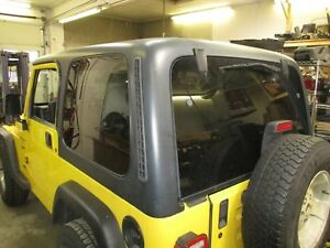 Jeep Wrangler 97 06 Tj Hardtop Black Tinted Windows Very Nice Shape