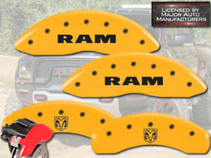 2011 2018 Dodge Ram 1500 Front Rear Yellow Mgp Brake Disc Caliper Cover Ramhead