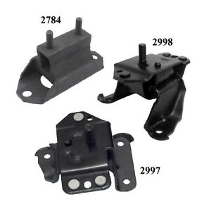 3 Pcs Front Motor Trans Mount For 1995 Ford Mustang 3 8l