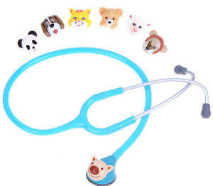 Stethoscope Doctor Kids Pediatric And Changeable Single Head To 7 Animals Cute
