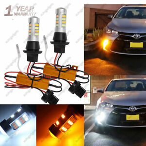 2x Led Signal Switchback Parking Lights W Resistor Front Drl For Toyota Camry