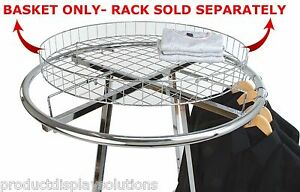 Free Shipping 30 Topper Basket For Round Clothes Rack Chrome