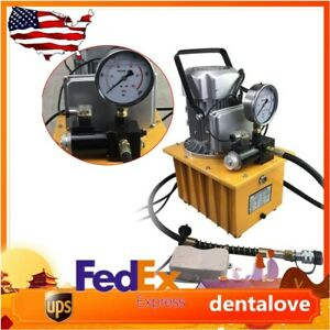 Electric Hydraulic Pump Power 750w Pedal Solenoid Valve 10152 Psi 110v 1400r min