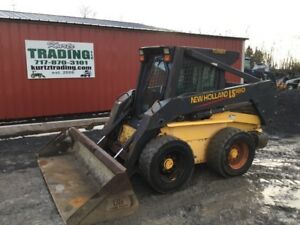 2001 New Holland Ls180 Skid Steer Loader W Cab 2 Speed Weight Kit