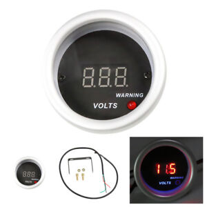 2 52mm Universal Auto Car Voltage Gauge Red Digital Led Racing Volt Meters