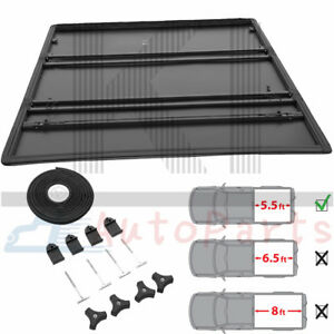 T3 Tri folding Soft Tonneau Cover Kit For 2009 2014 Ford F 150 5 5ft Truck Bed