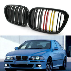 Fit For Bmw E39 5 series 97 03 Gloss Black M color Front Kidney Grille L