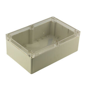 2x Waterproof Clear Plastic Electronic Project Box Enclosure Case 230x150x85mm