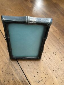 Vintage Tiffany Co Makers Sterling Silver Bamboo Picture Frame With Glass