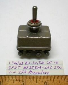 New Militarytoggle Switch Sealed 4pdt Cutlerh Ms25308 262 25 Amp Cont Lot 16 Usa