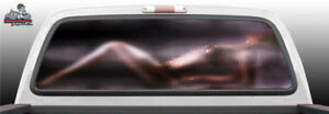 Sexy Nude Shower Glass Woman Close Rear Window Graphic Decal Suv Truck Car Perf