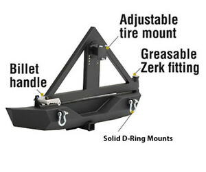 Smittybilt 76856 02 Xrc Swing Out Spare Tire Carrier For 76856 01 Bumper