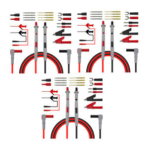 3x 20 in 1 Multimeter Replaceable Probe Meter Test Lead Kits Alligator Clips