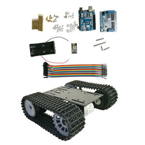 Arduino Wifi Smart Robot Car Chassis Aluminous Crawler Belt Tracked Tank