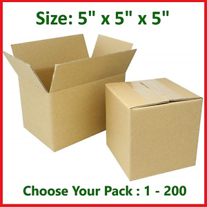 5x5x5 Cardboard Packing Mailing Moving Storage Shipping Boxes Corrugated Carton