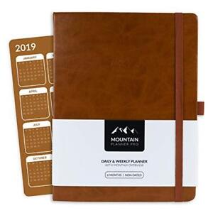 Mountain Planner Pro Large Daily Weekly Gratitude Journal Monthly Cal
