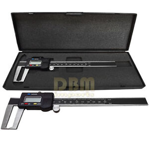 Digital 6 Outside Groove Vernier Caliper Ruler Micrometer Gauge Indicator