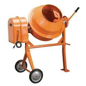 3 1 2 Cubic Ft Cement Mixer Central Machinery 36 Rpm Wide 15 In Drum Opening