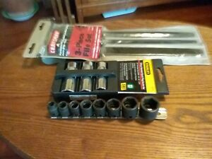 Sk Impact Sockets Craftsman Files And Stanley 3pcs Spark Plug Sockets