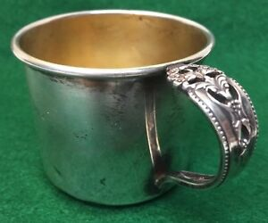 56 Grams International Sterling Silver Preludes Baby Cup Gold Wash Interior K76