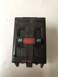 Circuit Breaker Wadsworth A230 30 Amp 2 Pole 120 240v Metal Tabs Plug In