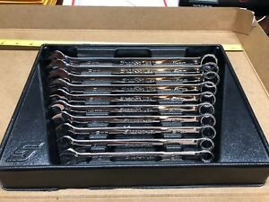Snap On Tools Soexm710 Metric Flank Drive Plus Wrench Set 10 19mm Excellent Cond
