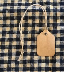 100 Tiny Coffee Stained Primitive Antique Store Price Gift Tags Crafts Wedding