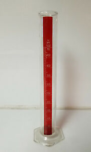 Vintage Red Stripe Pyrex 500 Ml Graduated Cylinder 15 5 Tall