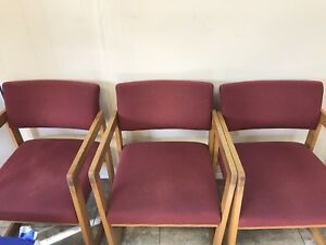 15 Guest Chairs 12 Burgundy 4 Burgundy And Gray Blend 1 Oak Tv Stand Must Sell