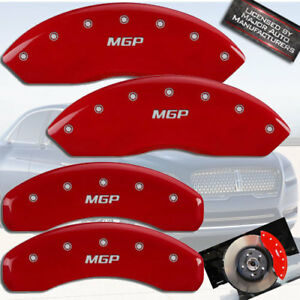 2003 2010 Lincoln Town Car Front Rear Red mgp Brake Disc Caliper Covers 4pc