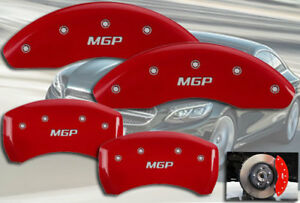 2002 2004 Mercedes Benz C32 Amg Front Rear Red Mgp Brake Disc Caliper Covers