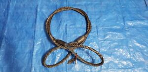 10ft Wire Rope Sling 3 4 Thick 6x37 Iwrc