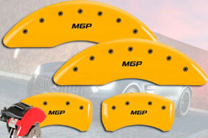 2012 2015 Mercedes Benz C350 Front Rear Yellow mgp Brake Disc Caliper Covers
