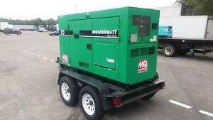 2012 Multiquip Dca 70ssiu2 Towable Diesel Generator 70kva