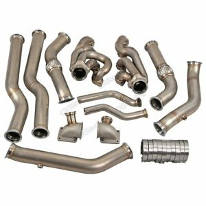 Cx Twin Turbo Header Downpipe Kit For 68 72 Chevelle Bbc Big Block 396 402 427