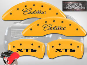 2013 2019 cadillac Xts Front Rear Yellow Mgp Brake Disc Caliper Covers 4pc