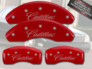 1997 2005 cadillac Deville Front Rear Red Mgp Brake Disc Caliper Covers