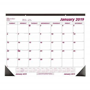 2019 Year Desk Pad Wall Calendar Daily Monthly Yearly Office Large Chipboard