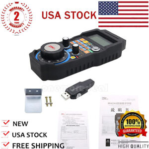 Wireless Mach3 Mpg Pendant Lcd Handwheel Controller For Cnc Mach3 4 axis Us
