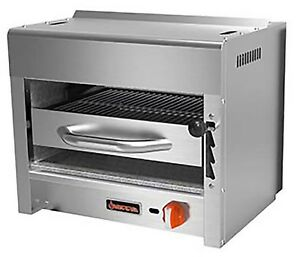 Sierra Salamander Broiler Gas Countertop 1 In fared 20 000 Btu Burner 24 w