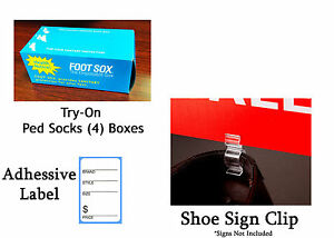 Mens Shoe Display Bundle W 576 Try On Peds 500 Shoe Tags And 100 Sign Clips