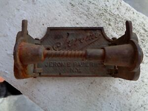 Antique Jerome Paper Co Industrial Toilet Paper Holder Bathroom Fixture Ny 1893