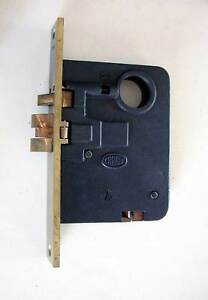 Original Antique Corbin Entry Mortise Door Lock For Use With Handles Both Sides