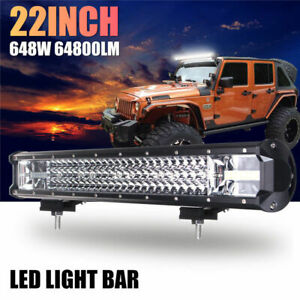 20 540w Cree Led Work Light Bar Flood Spot Combo Offroad Driving Lamp Car Truck