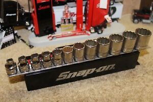 Snap on 211fsy 12pc 3 8 Dr12 point Sae Flank Drive Shallow Socket Set 1 4 7 8