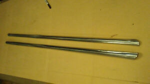 60 Ford Top Of 2 Door Stainless Molding Trim Chrome Spears Full Size 1960 Car