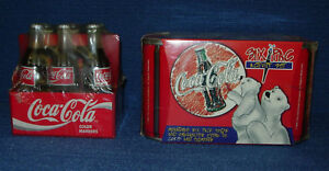 Coca Cola Collectibles  1999 Six Pac Activity Set and 1995 Marker 6-Pak     H022