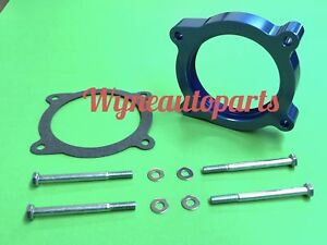 Blue Throttle Body Spacer Fits 11 18 Ford Mustang Gt 11 16 F150 V8 Dohc