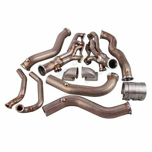 Cx Twin T4 Turbo Header Manifold Kit For 82 92 Chevrolet Camaro Sbc Small Block