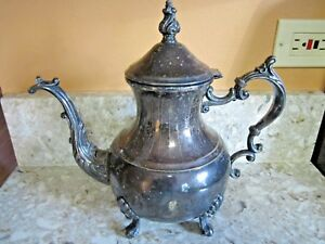 Vintage F B Rogers 2377 Silver Plated Coffee Tea Pot 1883 Excellent Condition
